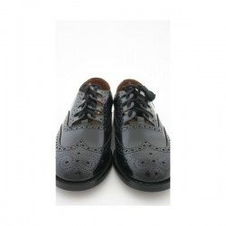 Wide Fitting Black Ghillie Brogue