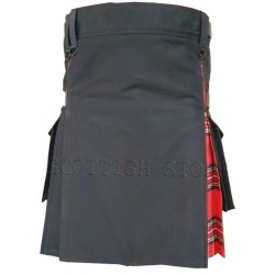Music Modern Deluxe Hybrid  Prime Active Fashion Fashion Black & Royal Stewart Man Kilt