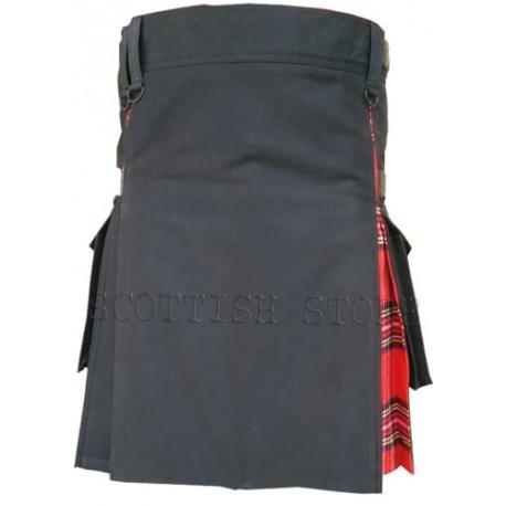 Music Modern Deluxe Hybrid  Prime Active Fashion Fashion Black & Royal Stewart Man Kilt
