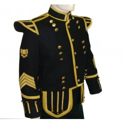 Black Pipe Major Doublet Military Jacket