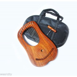 10 STRING  LYRE MADE WITH PEACH WOOD