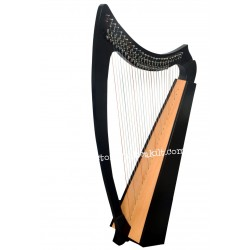 NEW 27 STRING CELTIC LEVER BLACK HARP
