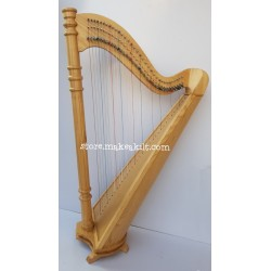 34 String Round Back Lever Harp Made With Ash wood