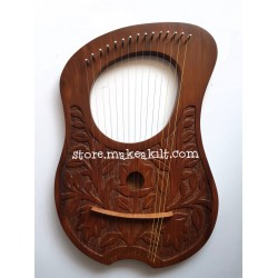 NEW 15 STRING LYRE HARP MADE WITH ROSE WOOD