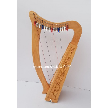 15 STRING CELTIC LEVER HARP IRISH BABY HARP