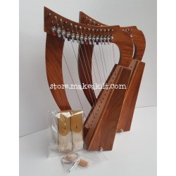 NEW 15 STRING CELTIC BABY HARP MADE ROSEWOOD WITH BELT
