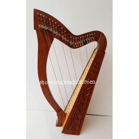 NEW 22 STRING CELTIC IRISH LEVER HARP MADE ROSEWOOD