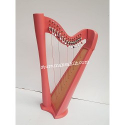 NEW 15 STRING ROUND BACK LEVER HARP