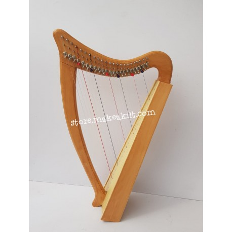 NEW 23 STRING LAP HARP CELTIC LEVER HARP MADE WITH BEECH WOOD