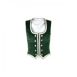 Green Velvet Highland Dance Vest sleeveless
