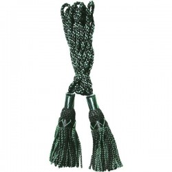 Black / Green Silk Bagpipe Cord