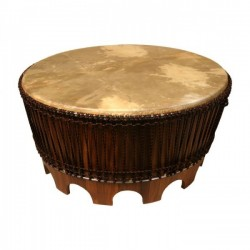 Drum Coffee Table, 38 with Beaters""