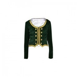 Green Velvet Highland Dance Jacket full sleeve
