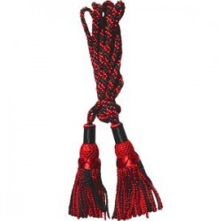 Black / Red Silk Bagpipe Cord