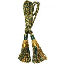 Gold / Green Silk Bagpipe Cord