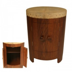 Drum Table with Shelving