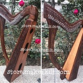 •New 29 String Celtic Lever Harp, Made With Seasoned Roos Wood, •Beautiful Designn, HandMade, Pure Treble And Warm Bass. •Comes With carry bag And Tunning Keys Extra String Set.  #babyharper #harps  #harpist #harperseven #music #harpa #harper #lyraheartstrings #arpa #cheapprice #musicinstrument #celticharp #leverharps  #irishharp #folkmusik #music #harpmaker #harpplayer #harpa ##classicalmusic #classicalmusician #scottish  #lyre #lyreharp  #Irishharp #folkharp #music #harpmaker #harpist #classicalmusic