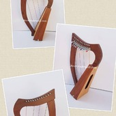New 12  String Celtic Lever Irish Harp For Sale.  •New 12 String  Lever Harp, Made With Seasoned Roos Wood, •Beautiful Designn, HandMade, Pure Treble And Warm Bass. •Comes With carry bag And Tunning Keys Extra String Set. •We Also Deal Wholesale Buyers •Custom Made Color. •Free Print Company Logo. Email Us: makeakilt@gmail.com  #harpist #harperseven #music #harpa #harper #lyraheartstrings #arpa #cheapprice #musicinstrument #celticharp #leverharps  #irishharp #folkmusik #music #harpmaker #harpplayer #harpa ##classicalmusic #classicalmusician #scottish  #lyre #lyreharp #folkharp #lapharp #harpist  #harp #babyharp #harpstudent #sale #harpmaster #harpteacher